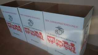 Toys For Tots Donation Bins